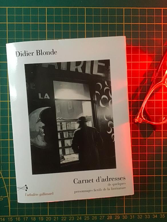 Couverture Carnet d'adresses —Didier Blonde. #gallimard